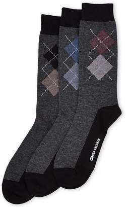 Ben Sherman 3-Pack Big Argyle Crew Socks