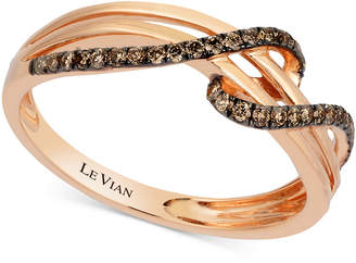 Le Vian Chocolatier® Diamond Wrap Ring (1/4 ct. t.w.) in 14K Rose Gold $1,600 thestylecure.com