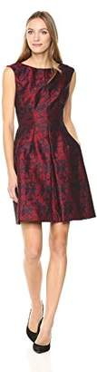Anne Klein Women's Inverted Fit Flare Jacquard Dress