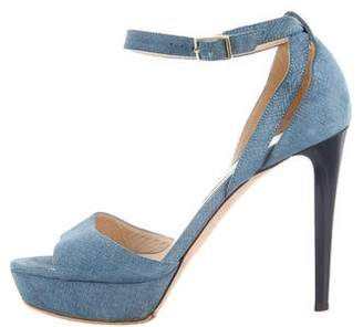 Jimmy Choo Nubuck Platform Sandals