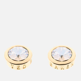 Ted Baker Women's Sinaa: Swarovski Crystal Stud Earrings - Gold/Crystal