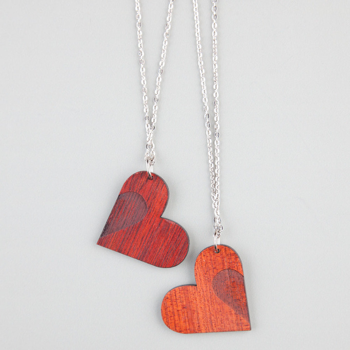 GOODWOOD NYC Heart 2 Piece Necklace Set