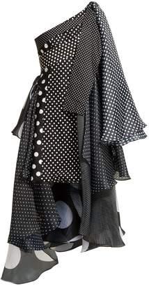 RICHARD QUINN Asymmetric polka-dot dress