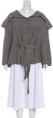 Ted Baker Cable Knit Wool Poncho