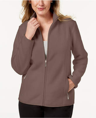 Karen Scott Zeroproof Fleece Jacket
