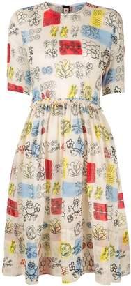 Marni printed flared dress