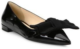 Prada Leather & Grosgrain Bow Skimmer Flats $620 thestylecure.com
