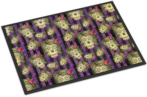 The Holiday Aisle Precita Day of the Dead Halloween Indoor or Outdoor Doormat