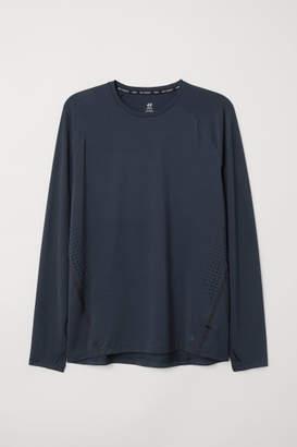 H&M Long-sleeved Running Shirt - Blue