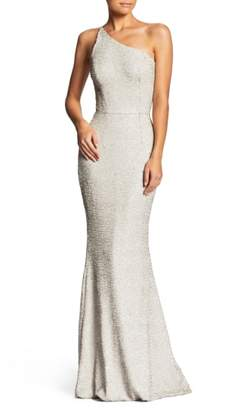 Dress the Population Bella One-Shoulder Mermaid Gown