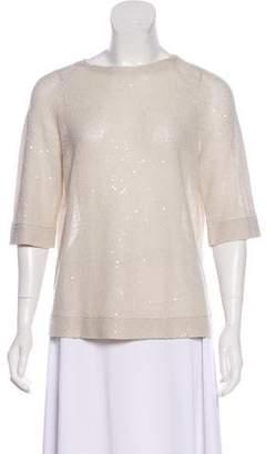 Brunello Cucinelli Embellished Linen Top