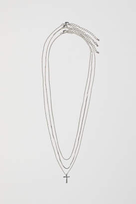 H&M 3-pack Necklaces - Silver