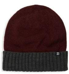 Two-Tone Ribbed Beanie