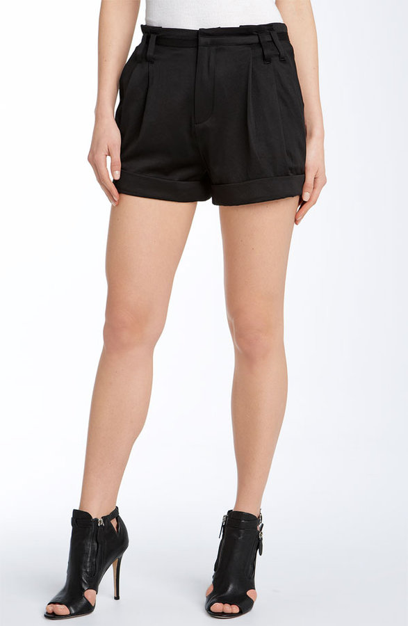 Free People 'Slinky' Pleated Shorts