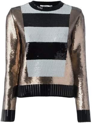 f1c30f8bdf0 Max Mara striped panel sequin jumper