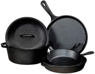Lodge 5-pc. Pre-Seasoned Cast-Iron Cookware Set