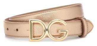 Dolce & Gabbana Metallic leather belt
