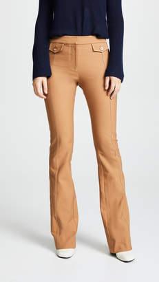 Derek Lam 10 Crosby Flare Trousers with Tab Detail