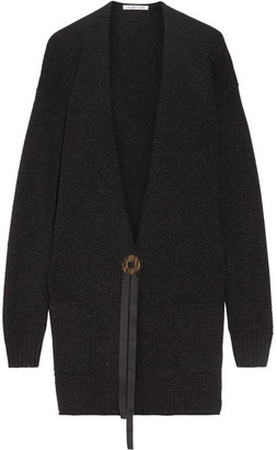 Helmut Lang - Oversized Wool And Cashmere-blend Cardigan - Charcoal $620 thestylecure.com
