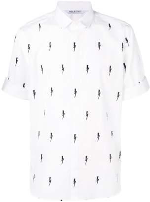 Neil Barrett thunder print shirt
