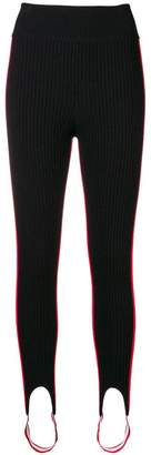 Calvin Klein striped panel stirrup leggings