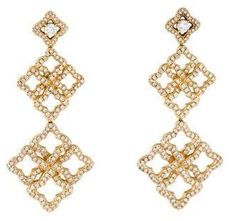 David Yurman 18K Diamond Venetian Quatrefoil Earrings