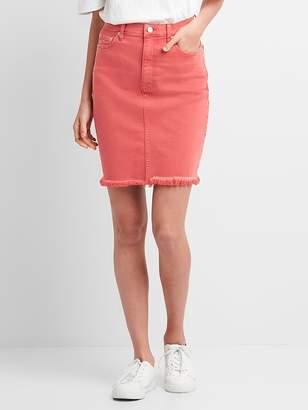 Gap Color Denim Pencil Skirt