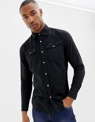 G Star G-Star slim fit 3301 shirt in black