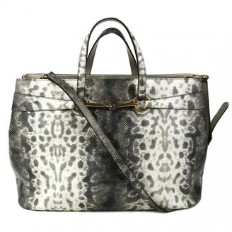 Gucci Grey Exotic leathers Handbags
