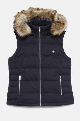 Next Womens Jack Wills Black Foxford Hooded Gilet