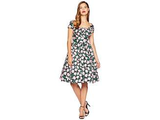 Unique Vintage Cap Sleeve Valencia Swing Dress