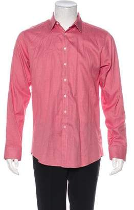 Thomas Pink Patterned Button-Up Shirt