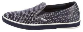 Jimmy Choo Grove Woven Leather Slip-On Sneakers