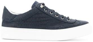 Jimmy Choo crocodile embossed sneakers