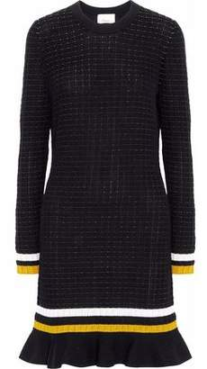 3.1 Phillip Lim Striped Stretch-Knit Cotton-Blend Mini Dress
