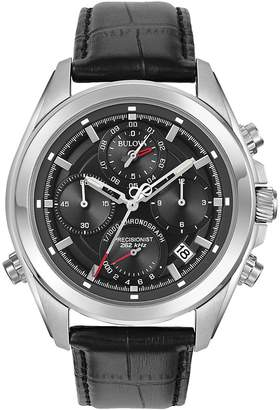 Bulova Men's Precisionist Round Leather Strap Watch