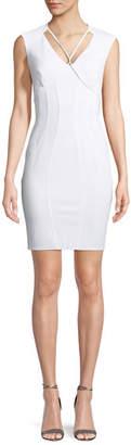 Zac Posen Regina V-Neck Open-Back Cocktail Dress