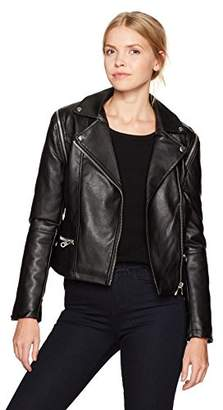 Members Only Women's Cropped Biker Jacket