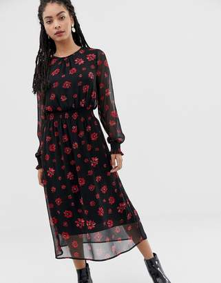 Minimum Moves By floral midi dress