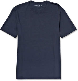 Derek Rose Basel Stretch Micro Modal Jersey T-Shirt - Navy