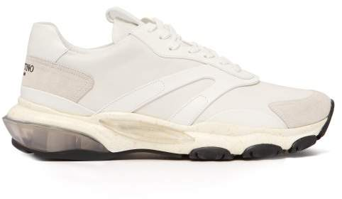cf37c3990 Valentino Bounce Raised Sole Low Top Trainers - Mens - White - ShopStyle