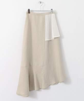 KBF (ケイ ビー エフ) - KBF リネンMIXパッチスカート