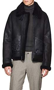 Ralph Lauren Purple Label Men's Shearling Flight Jacket - Navy