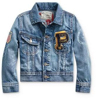 Ralph Lauren Boys' Denim Graphic Trucker Jacket - Little Kid