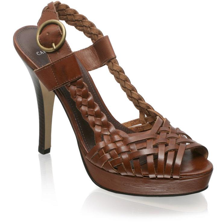 Carvela Woven Platform Slingback Sandal