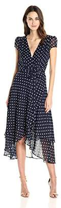 Betsey Johnson Women's Chiffon Dot Wrap Dress