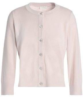 Kate Spade Embellished Cotton-Blend Cardigan