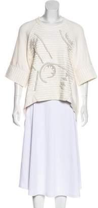 Sass & Bide Short Sleeve Embellished Sweatshirt