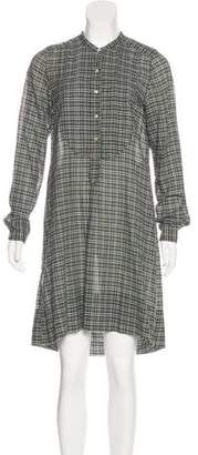 Etoile Isabel Marant Plaid Shirt Dress