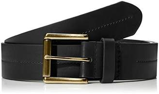 """Filgate Soft Genuine Leather Belt with Rolled Buckle Stitching On The Strap 32"""""""
